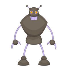 Robot warrior icon cartoon style vector