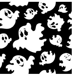 seamless background with ghosts 1 vector image