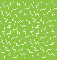 Seamless memphis thunderbolt pattern trendy and vector