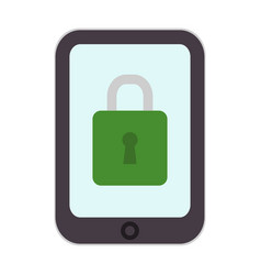 security icon mobile locking design phone vector image