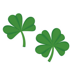 Shamrock digital embroidery vector