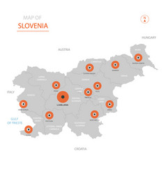 Slovenia map with administrative divisions vector