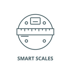Smart scales line icon linear concept vector