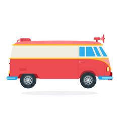 street food van with megaphone icon flat isolated vector image