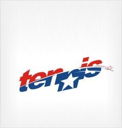 tennis logo image symbol vector image