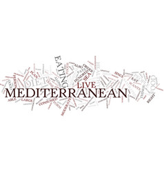 The mediterranean diet text background word cloud vector