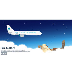 trip to italy travelling modern vector image
