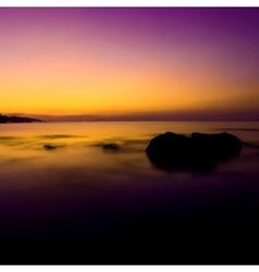 Tropical sunset on the beach vector