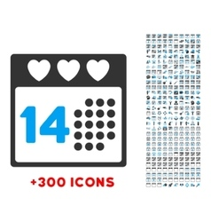 Valentine Love Date Icon vector