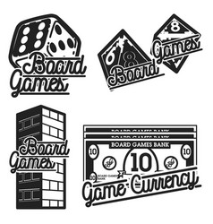 vintage board games emblems vector image