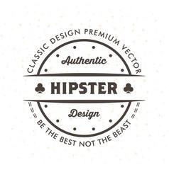 vintage hipster logo design template vector image