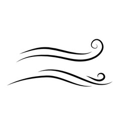 wind doodle blow gust design isolated on white vector image