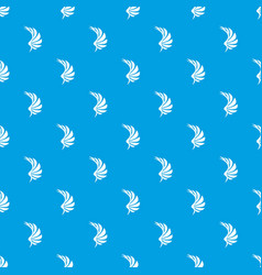 wing pattern seamless blue vector image