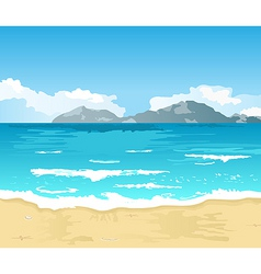 beautiful summer background with beach vector image