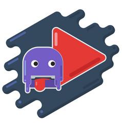 creative concept of play button icon vector image