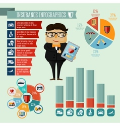 Insurance company agent infographics design vector image vector image
