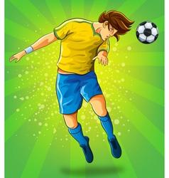 Soccer player head shooting a ball vector