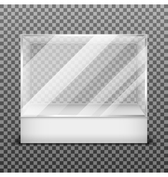 Transparent display glass box isolated on vector image vector image