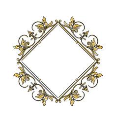 vintage frame geometric decoration heraldry blank vector image vector image