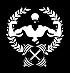 athlete with muscles symbol for the gym vector image vector image