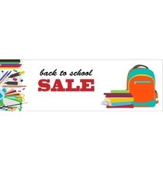 Back to school horizontal banner vector image