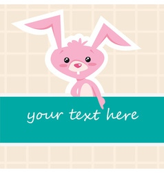 Cartoon bunny card vector image vector image