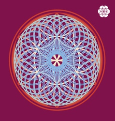 flower of life seed print vector image vector image
