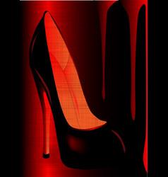 grunge shoe vector image vector image