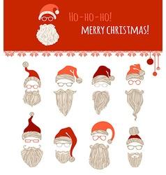 Ho-ho-ho Merry Christmas vector image
