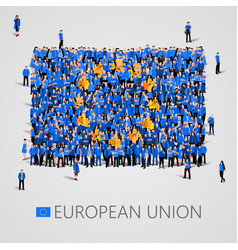large group of people in the shape of european vector image