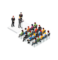 party meeting isometric design concept vector image