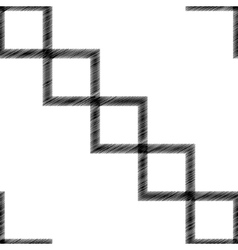 Scribble diagonal square vector