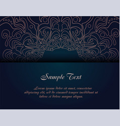 vintage business card template vector image