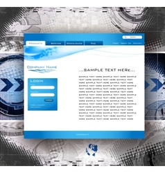 website business template vector image vector image