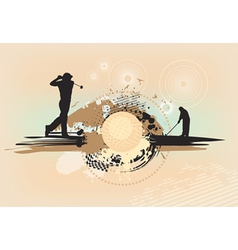 abstract brown golf background vector image vector image