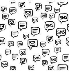 Cell phone sms and email communications seamless vector