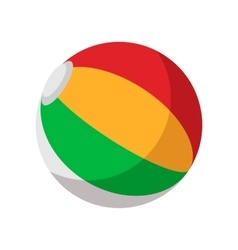 Colorful ball cartoon icon vector image