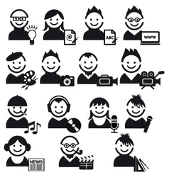 creative people icon set vector image vector image