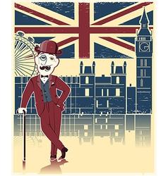 Gentleman with London background vector image vector image