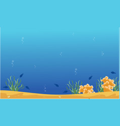Landscape of blue sea with reef vector