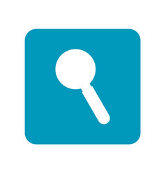 magnifier flat icon of laboratory equipment for vector image