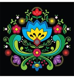 Norwegian folk art Bunad pattern - Rosemaling styl vector image