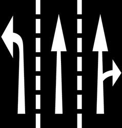 road arrows vector image vector image