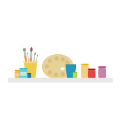 art drawing set icon flat isolated vector image