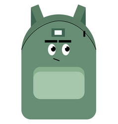 backpack with eyes on white background vector image