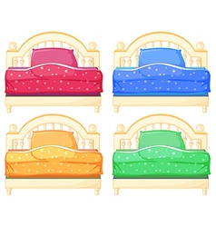 Bed set vector image