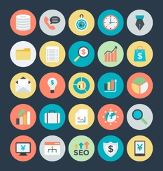 Business Colored Icons 2 vector