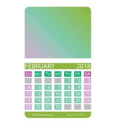 calendar grid february vector image