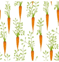 Carrots Freehand Drawing Seamless Pattern vector