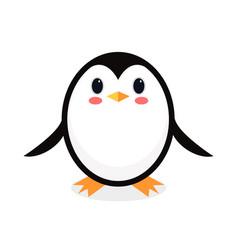 cartoon penguin isolated on white background vector image